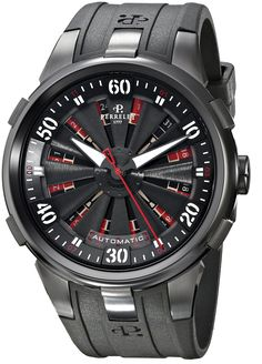 Perrelet Men s A4054 1 Turbine XL Analog Display Swiss Automatic Black  Watch Amazing Watches 79a0eccf9a