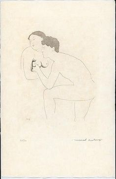 Selected Details after Ingres II - Marcel Duchamp, etching with aquatint; 1968. From the series 'The Large Glass and Related Works, with Nine Etchings by Marcel Duchamp on the Theme of the Lovers'
