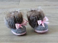 Zapatos de la muchacha de piel sintética bebé niña recién
