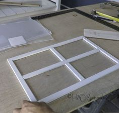How to Make Faux Garage Door Windows - DIY Home Improvement Projects and Ideas