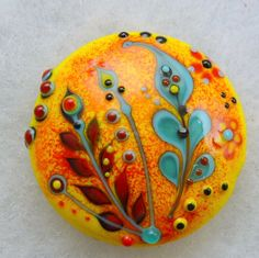 Lampwork focal bead by Pixie Willow DesIgns #lampwork #beads
