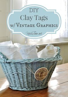 DIY Clay Tags with Graphics via KnickofTime.net