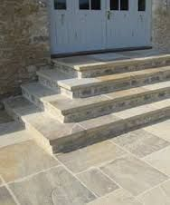 Flagstone Patio Steps Landscapes 45 Ideas For 2019 Patio Steps, Garden Steps, Diy Patio, Backyard Patio, Backyard Landscaping, Flagstone Patio, Concrete Patio, Limestone Patio, Stone Patio Designs