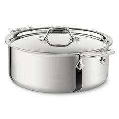 All-Clad Stainless Steel Stock Pot with Lid Size: 8 Qt.