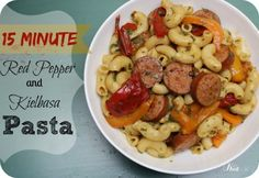 Are you looking for a simple weeknight dinner idea This 15 minute Red Pepper and Kielbasa pasta can be ready in 15 minutes or less!