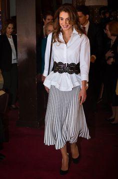 La reine Rania de Jordanie à l'Université de Georgetown à Washington, le 14 avril 2016