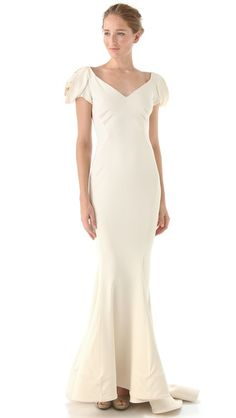 THIS IS IT.  If my other doesn't work. :)    Zac Posen Rosette Sleeve Gown