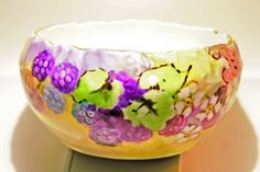 Raspberry Bowl by VinChic on Etsy