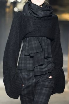 Y-3 FW 13, beautiful soft sleeves drape low round the body, empowering the model.
