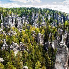 Photo by Tim Kemple. Adršpach, Czech Rep,  #beautiful #nature #rock #formations…