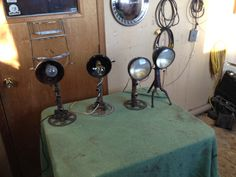 Desk lamps no 1,2,3 & 4