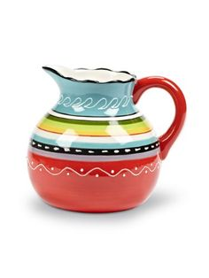 Abbott Collection Colourful Belly Pitcher 65 oz * Click image for more details.
