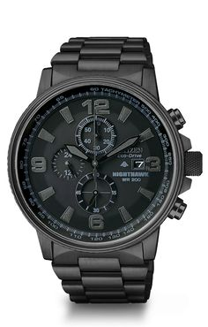 "Citizen Eco-Drive $450 Watch... ""Night Hawk"" My husband would love this watch!!"