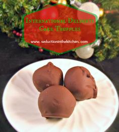Cake Balls made with cake & flavored coffee creamer instead of frosting International Delights Cake Truffles