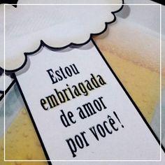"""DIY: Cartãozinho """"Embriagado de Amor por Você"""""""