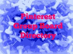 Pinterest Group Board Directory