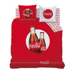 Parure housse de couette + taie cool rouge/blanc 100% coton COCA COLA http://www.delamaison.fr/parure-housse-couette-taie-cool-rougeblanc-coton-coca-cola-p-117188.html#p=117190