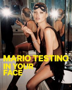 Exclusive First Looks: Mario Testino's 'In Your Face' Exhibit Kate Moss Moss Fashion, Fashion Shoot, Party Fashion, Editorial Fashion, Mario Testino, V Magazine, Claudia Schiffer, Vanity Fair, Banks
