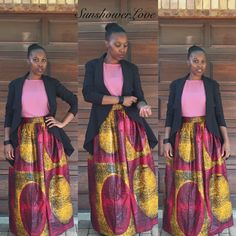 Ankara Maxi Skirt....#SunshowerLove