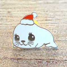 Holiday Seal Enamel Pin