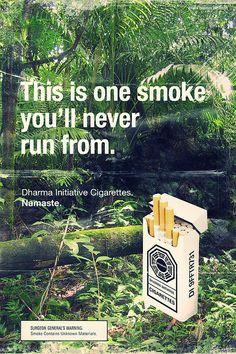 Smoke 'em if you got 'em. by Hot Meteor - vintage Dharma ads