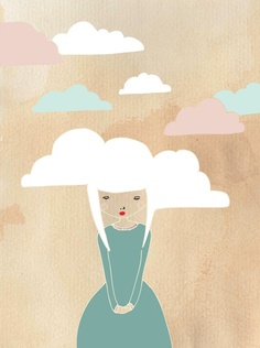 Head in the clouds print by Laura Amiss