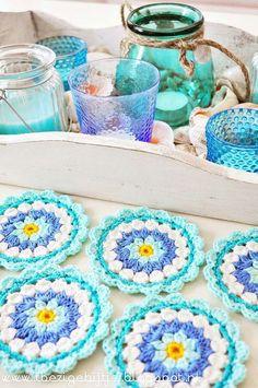 Transcendent Crochet a Solid Granny Square Ideas. Inconceivable Crochet a Solid Granny Square Ideas. Crochet Motifs, Crochet Potholders, Crochet Squares, Crochet Granny, Crochet Doilies, Crochet Flowers, Crochet Patterns, Granny Squares, Crochet Coaster