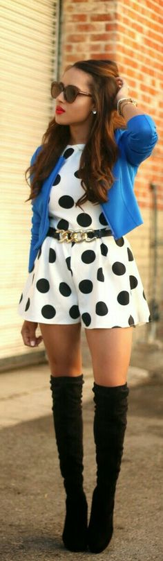 Do away with the tall black boots and substitute them for yellow pumps; also do away with the sunglasses