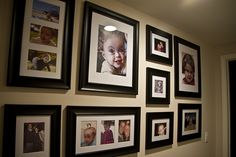 picture frame arrangement on a long wall - Google Search
