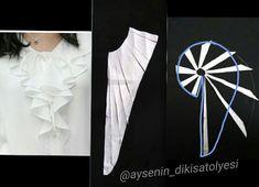 Hareketli ve şık bir detay değil mi? Sizde deneyebilirsiniz.. . . . . . #dikiş #sewing #model #modelist #kalıp #mywork #pattern #Patternmaking #fasion #fasionstyle #Gömlek #yaka #volan #Shirt #feed #elbise #detay #dress #detail