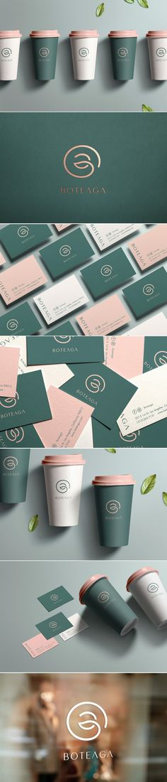 Boteaga specialty tea store logo, branding and packaging by W/H design Brand Identity Design, Corporate Design, Design Agency, Business Card Design, Branding Design, Logo Branding, Branding Agency, Green Design, Graphisches Design