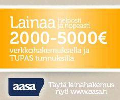Aasa lainaa 2000-5000 euroa