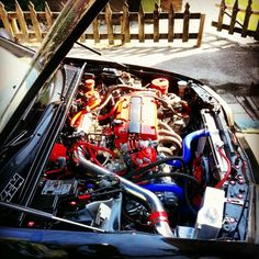 New engine in my car(JDM H23a DOHC Vtec blue top).