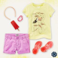 9d5a7ca2ce2 A little birdie told us she's going to love this tropical tee and roll-cuff