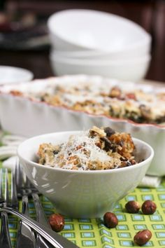 Spinach and Mushroom Brown Rice Casserole | by Sonia! The Healthy Foodie
