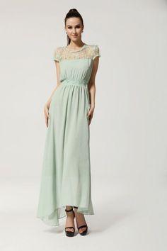 2015 Womens Lace Chiffon Green Hot Prom Cocktail Bridesmaid Evening Long Dress   #100New #Sundress #Casual