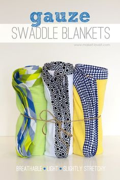 DIY Gauze Swaddle Blankets for Baby (...light and breathable!)