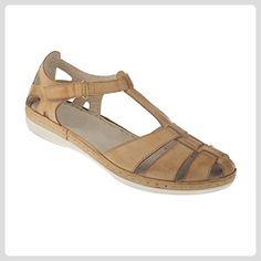 tessamino Damen Sandale | aus echtem Leder | Römersandale | Weite H | hellbraun - Sandalen für frauen (*Partner-Link)