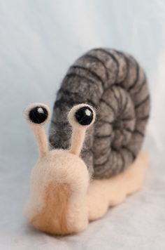 Large Needle Felted Snail made of 100% wool