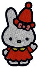 Santa Costume Kitty Embroidery Design brother pe150v embroidery machine