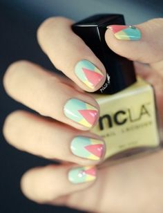 Geometric Nail design- so cute!