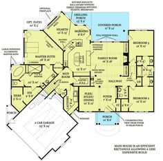 2,393 sq ft.  I like this floor plan.