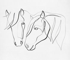 Horse Pencil Drawing, Horse Drawings, Art Drawings, Animal Doodles, Line Art Tattoos, Continuous Line Drawing, Horse Silhouette, Sketch Painting, Small Art