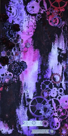 Time and Movement- #steampunk #mixedmedia #canvas