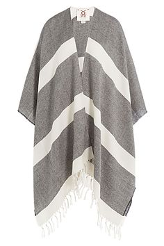 Made+from+wool+and+styled+with+thick+stripes+of+bright+white+and+pale+grey,+this+fringed+shawl+scarf+from+Figue+will+prove+a+versatile+accessory+that+can+be+worn+through+all+four+seasons+#Stylebop