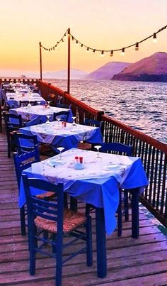 Dinner by the sea..