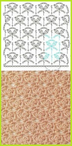 Crochet diagram for a afghan or scarf.
