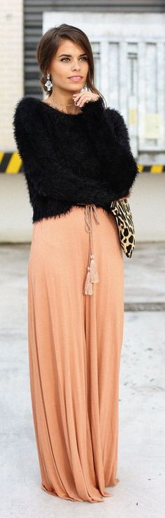 Chic In The City- Dusty Salmon Chiffon Loose Jumpsuit by Seams For a Desire- ♔LadyLuxury♔