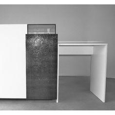 Comptoir de caisse pour l 39 agencement de magasin fonctionnel design et enti rement - Meuble de caisse pour boutique ...