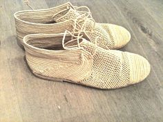 // Handmade Moroccan straw shoes